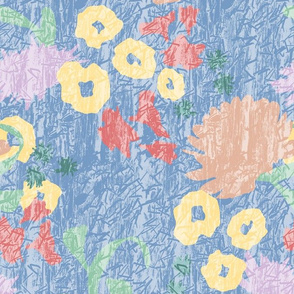Sunwashed Abstract Textured Floral