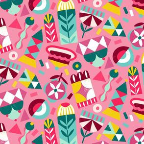 geometric playground pink