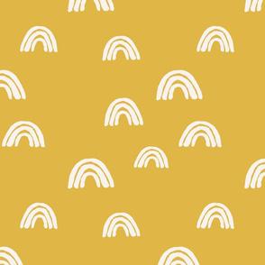 rainbow arches mustard