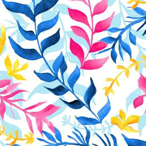 Vibrant Gouache Sea Plants (Large Version)