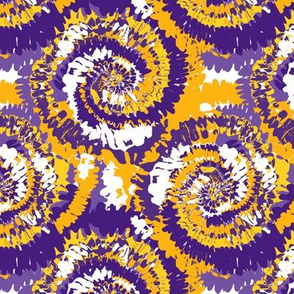 louisiana tie dye fabric - tie dye, purple and gold, purple and yellow