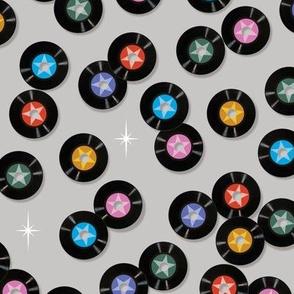 Pop Star* (Silkscreen) || records circles vinyl 45rpm 7-inch single 60s 70s 80s retro music pastel