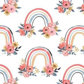 Watercolor Floral Rainbows