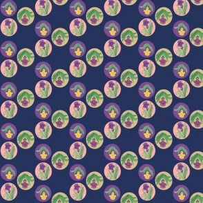 Tiny Iris Bubbles Navy