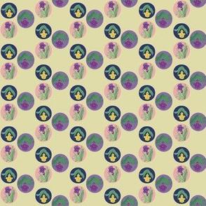 Tiny Iris Bubbles Yellow