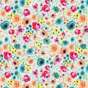 My Colorful Garden (soft mint), MEDIUM scale