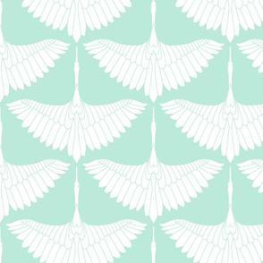 Swan Song // White on Medium Robin's Egg