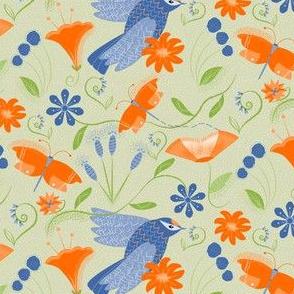 Orange and Blue BIRD