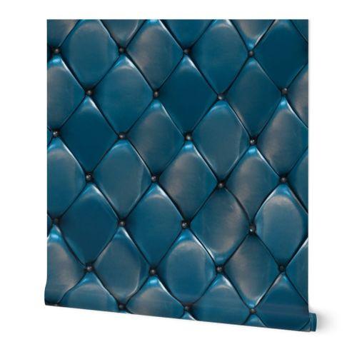 Steel Blue Padded Upholstery
