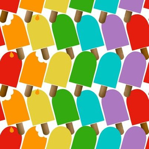 Hello Summer- Popsicles Bright WHT