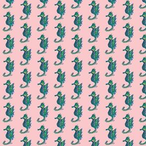 Seahorses on Pink - Tiny
