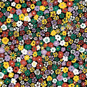 Ditsy Daisy Meadow in Midnight + Mod Multi