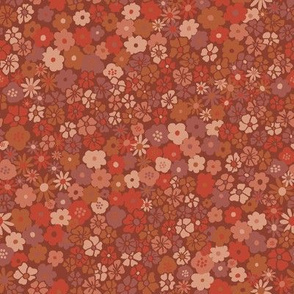 Ditsy Daisy Meadow in Rust
