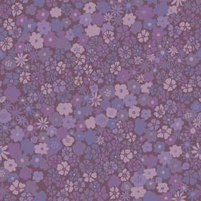 Ditsy Daisy Meadow in Dusty Lavender