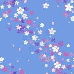Blue and Pink Sakura