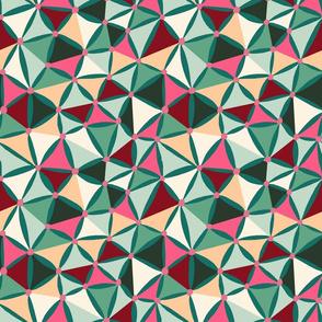 ditsy stars green-pink