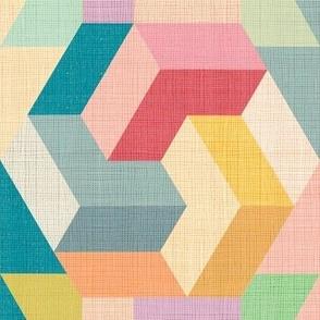 Bauhaus Micro modern Quilt02