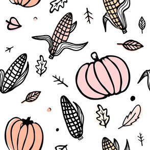 Thanksgiving day  pattern with corn cobs