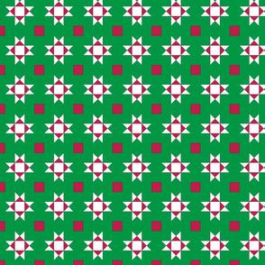 mini 2 inch quilt stars christmas white stars 1