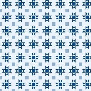 mini 2 inch quilt stars classic blue limited palette