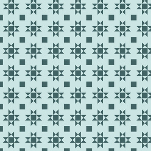 mini 2 inch quilt stars pine and mint limited palette
