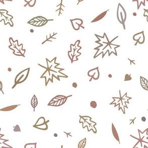 Doodle autumn leaves.