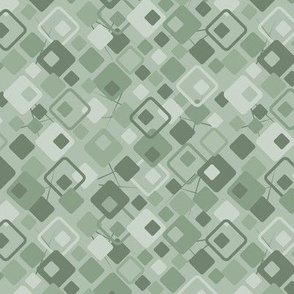 Copacetic: Powdery Green Deco Geometric Ditsy