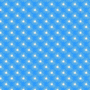 Wishing away dandelion pattern large- bright blue