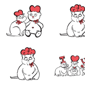 Cat with Hats Valentine