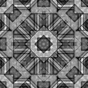 Black and White Organic Grid