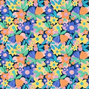 mod flowers repeat springtime