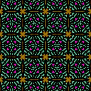Folk Art Lined Arrow Tile, large