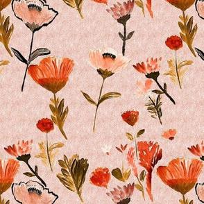 spring floral peach