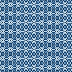 Indigo Lane - Blue flower hexagon