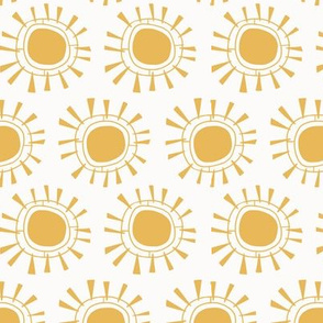 Tribal Sun   Yellow + Cream