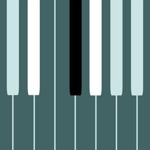 Pine and Mint Piano Keys