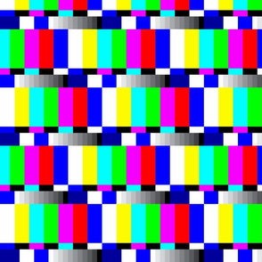 TV color test bars bright