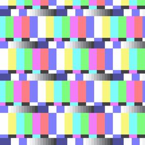 TV color test bars pastel