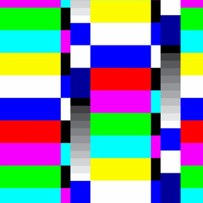 TV color test bars bright LG rotated