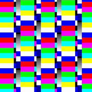 TV color test bars bright rotated