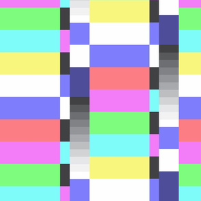 TV color test bars pastel LG rotated