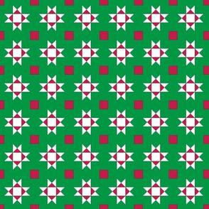 mini 1 inch quilt stars christmas white stars 1