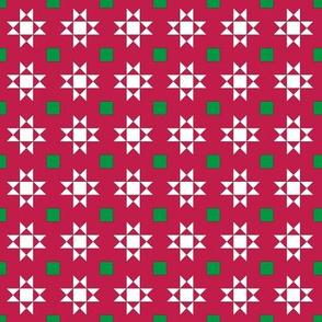 mini 1 inch quilt stars christmas white stars 2