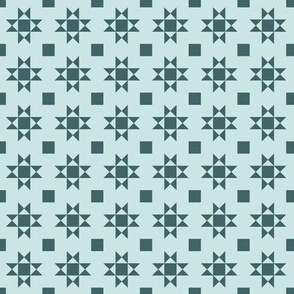 mini 1 inch quilt stars pine and mint limited palette