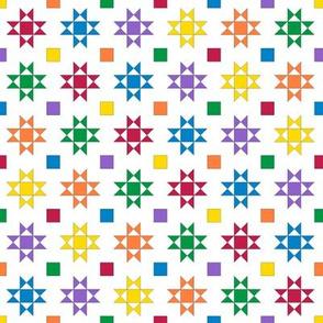 mini 1 inch quilt stars primary bright