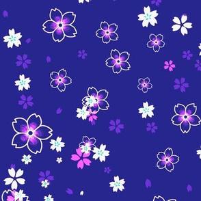 Purple and pink Sakura snow