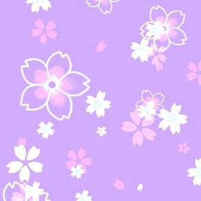 Light purple Sakura snow