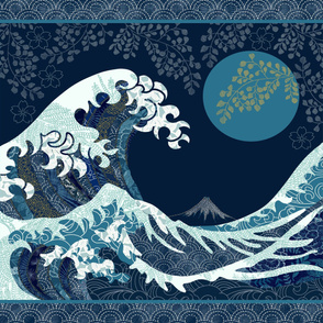 The Wave Quilt with two borders