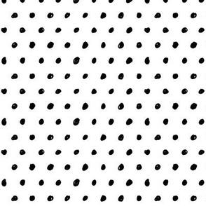 dots black and white doodled ink