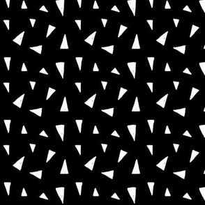 triangle mix white on black doodled ink